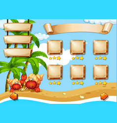 Summer day game template vector
