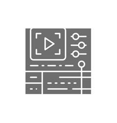 Video editing software cinema production grey vector
