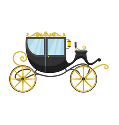 Vintage carriage iconcartoon icon vector
