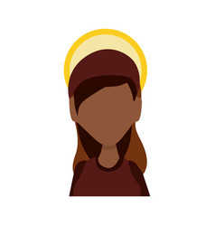 Virgin mary mother of god cartoon vector