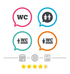 wc toilet icons gents and ladies room vector image