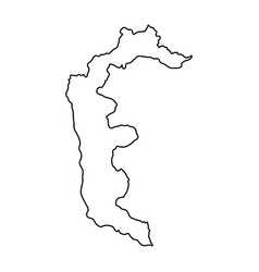 azad kashmir map of black contour curves on white vector image