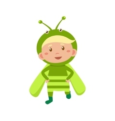 Child Wearing Costume of Grasshopper vector image vector image