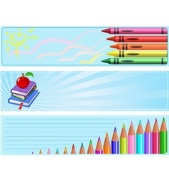 different back to school banners vector image