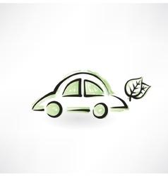eco car grunge icon vector image vector image