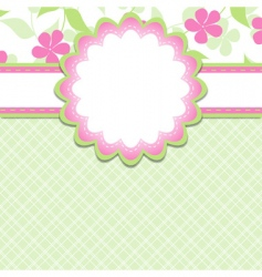 girl template vector image vector image
