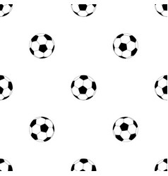 seamless pattern with soccer balls on white vector image
