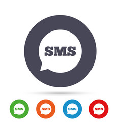 sms speech bubble icon information symbol vector image