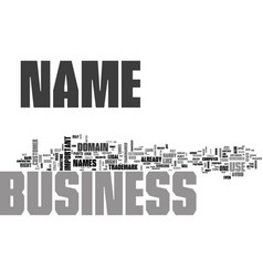 what s in a name when it comes to your business vector image vector image