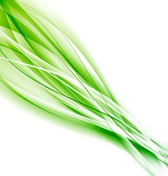 Abstract speed green eco swoosh background vector image