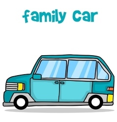 Collection of family car transport vector image vector image