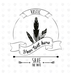 save the date rustic poster decorative element vector image