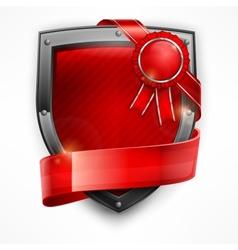 Shield with ribbon award vector image vector image