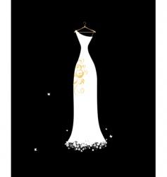 wedding dress white on hangers vector image