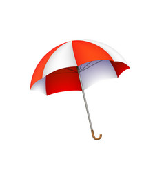 beach umbrella sign object on a white background vector image