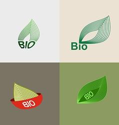 Bio logo green leaves leaves environmental icons vector image vector image