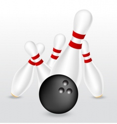 bowling illustration vector image