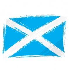grunge Scotland flag vector image