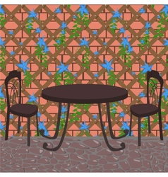 summer cafe vector image