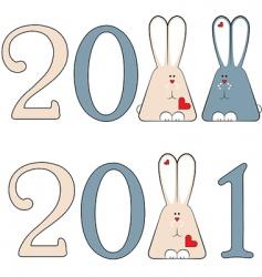 vector 2011 bunnies vector image vector image