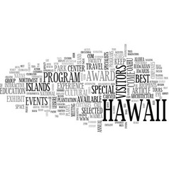 aloha celebrated here by lynn cook text word vector image vector image