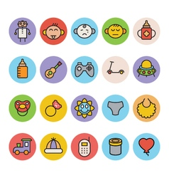 Baby Icons 5 vector image vector image