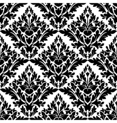 Beautiful floral seamless damask pattern vector image vector image