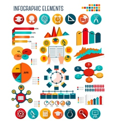 Big set of Education infographics elements vector image