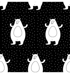 Cartoon Winter Seamless Pattern vector image vector image