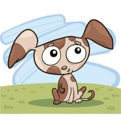 cute puppy vector image