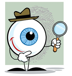 Detective Eyeball Holding A Magnifying Glass vector image