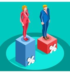 Election Infographic Pools Politics Isometric vector image