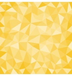 Gold low poly background vector image vector image