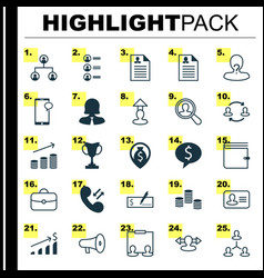 hr icons set collection of destination find vector image