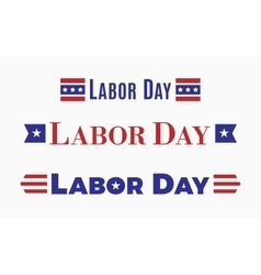 Labor day Holiday in United States of America vector image vector image