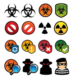Malware Icons vector image vector image