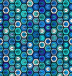 Seamless geometric pattern with hexagons vector image
