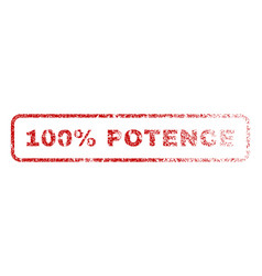 100 percent potence rubber stamp vector
