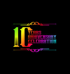 10th years anniversary logo template vector