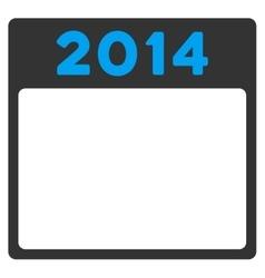 2014 Calendar Icon vector image