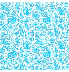Abstract seamless pattern in blue vector