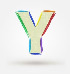 Alphabet letter Y Watercolor paint design element vector
