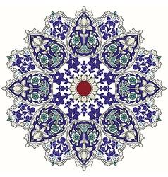 Arabic circular pattern vector