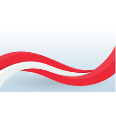 austria waving national flag modern unusual shape vector image