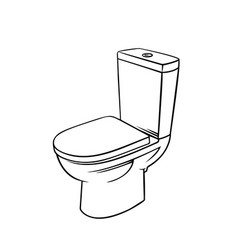 badge toilet outline vector image