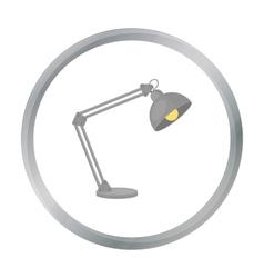 Balanced-arm lamp icon in cartoon style isolated vector