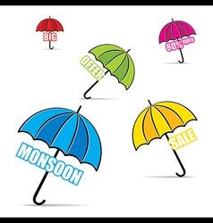 Big monsoon offer promotion banner design vector