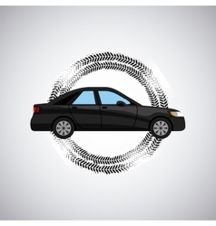 black car icon vector image