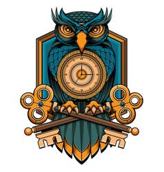 Blue owl logo vector