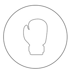 Boxing glove icon black color in circle vector